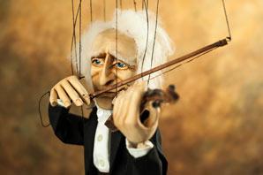 Движение марионетки скрипач