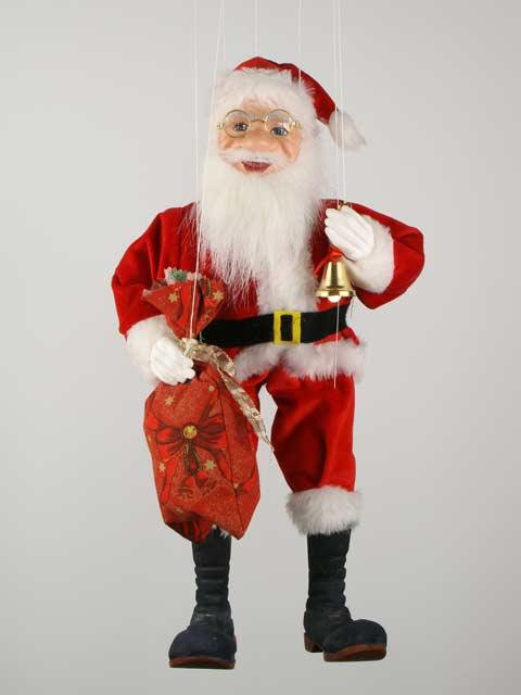 Дед Мороз Санта Клаус декоративная марионетка