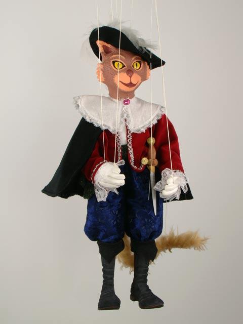 Кот в сапогах рыжий декоративная марионетка