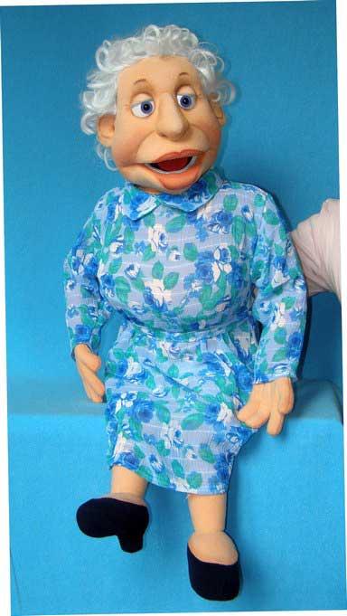 Бабушка Вика кукла чревовещателя