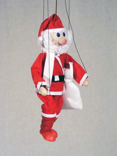 Дед Мороз деревянная марионетка