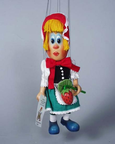 Красная Шапочка мажорка деревянная марионетка