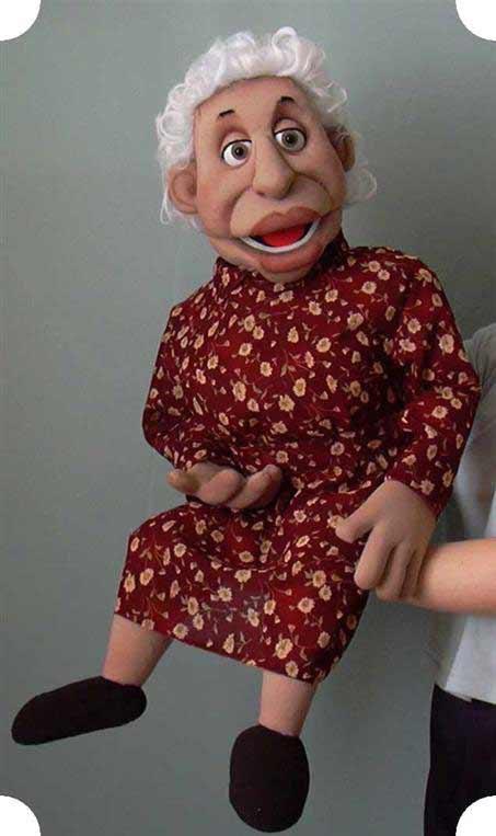 Бабушка Элла кукла чревовещателя