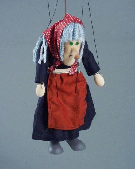 Баба Яга , деревянная марионетка