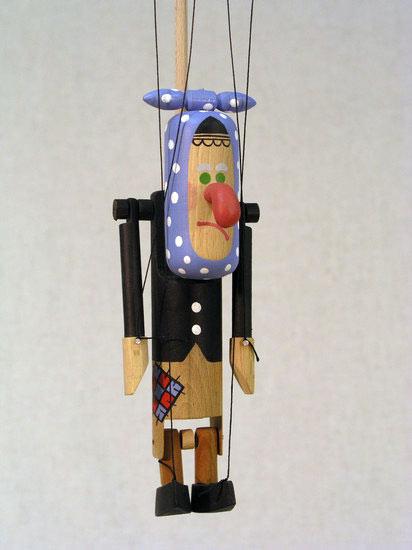 Баба-Яга , деревянная марионетка