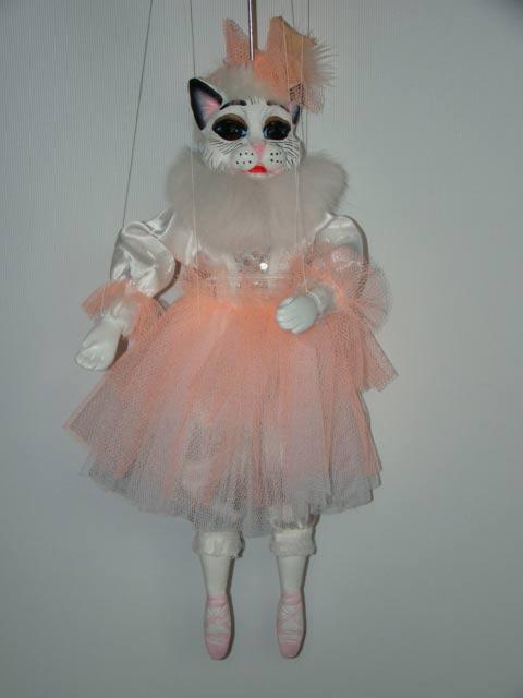 Кошка балерина Жизель декоративная марионетка