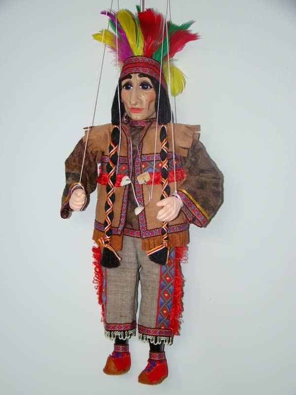 Индеец Маква декоративная марионетка