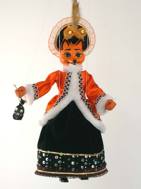 Лиса Анфиса декоративная марионетка
