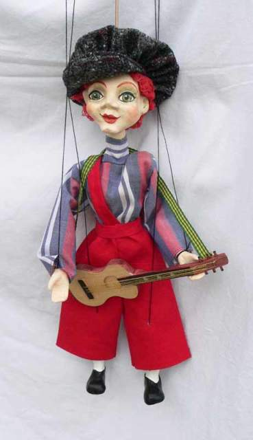 Гитарист уличный декоративная марионетка