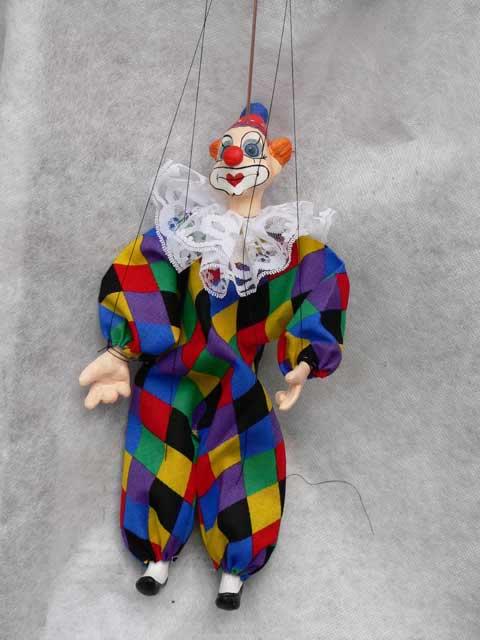 Клоун Жан декоративная марионетка