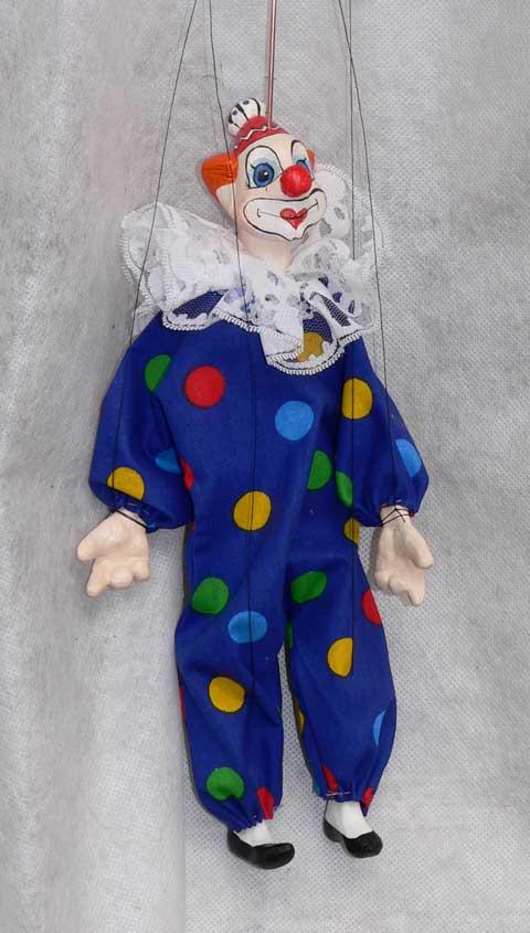 Клоун Жак декоративная марионетка