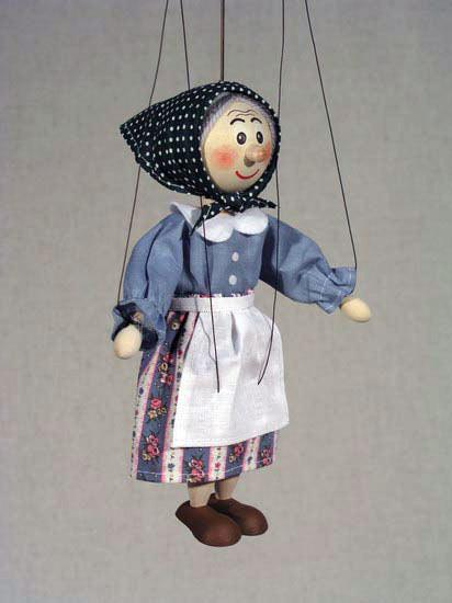 Бабка Бейла деревянная марионетка