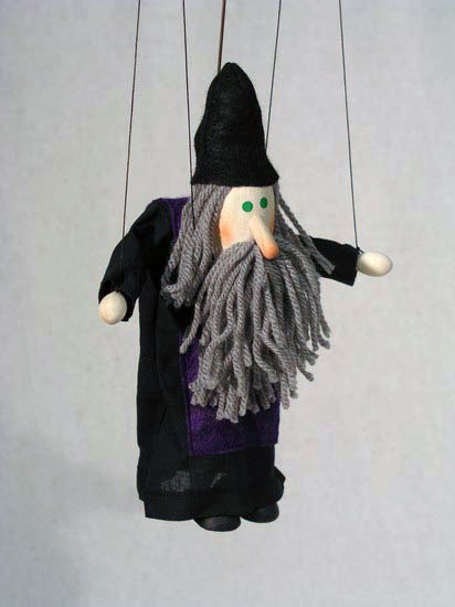 Волшебник Гассан деревянная марионетка
