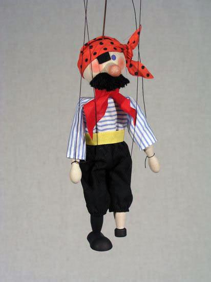 Пират Жиган деревянная марионетка