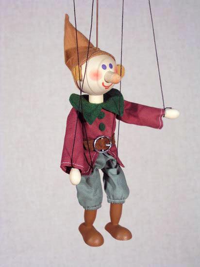 Гном Простак деревянная марионетка