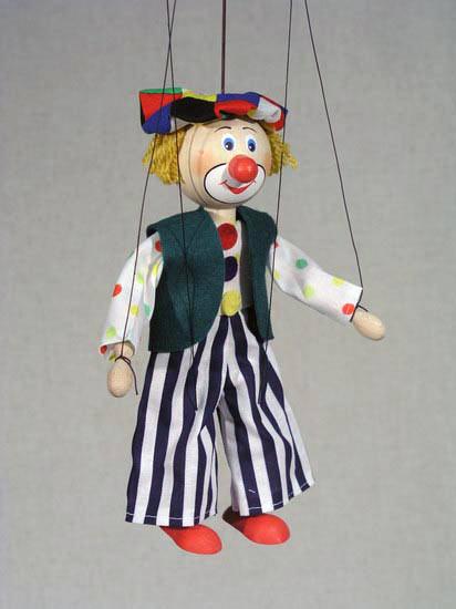Клоун Бен деревянная марионетка