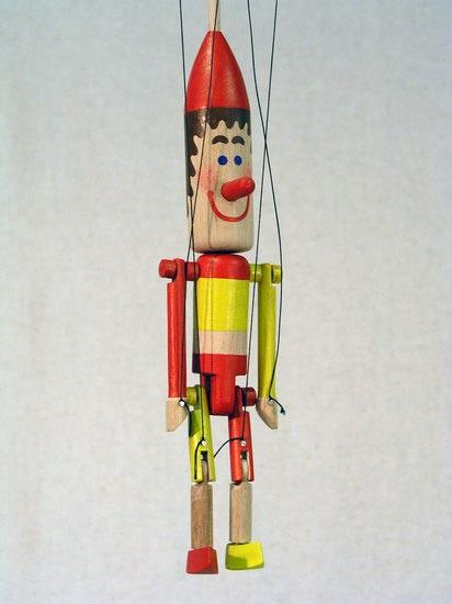 Петрушка Мердок деревянная марионетка