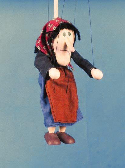 Ведьма , деревянная марионетка