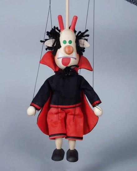 Дьявол Лео деревянная марионетка