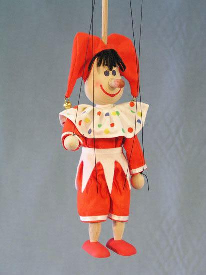 Петрушка Мерл деревянная марионетка