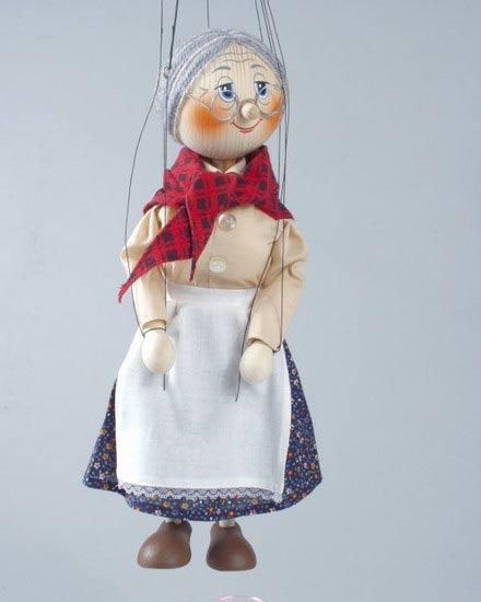 Бабушка , деревянная марионетка