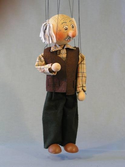 Дедушка Пихто деревянная марионетка