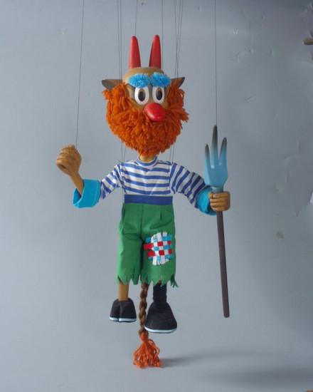 Дьявол Норд Ис деревянная марионетка