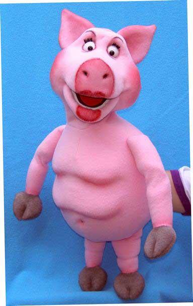 Свинья Агнеса кукла чревовещателя