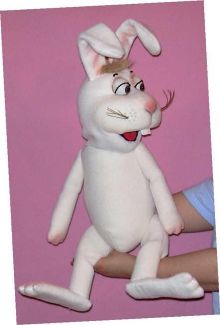 Заяц бывалый кукла чревовещателя