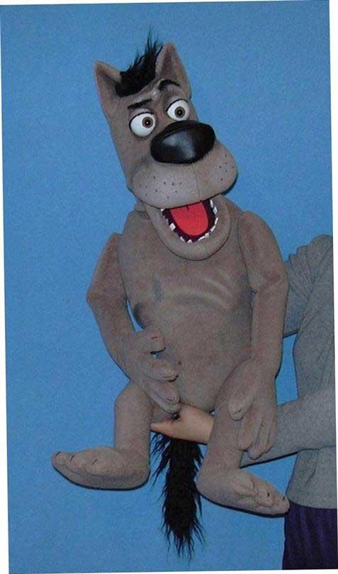 Волк Акелла кукла чревовещателя