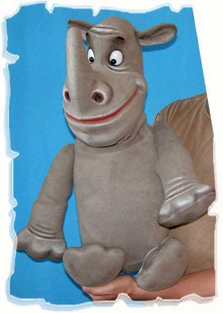 Носорог кукла чревовещателя