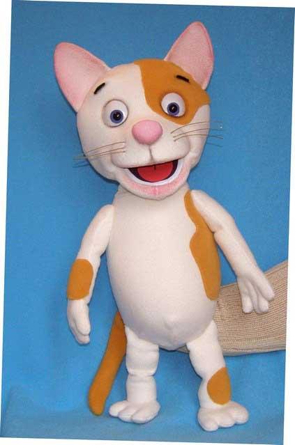 Кошка Лиза кукла чревовещателя