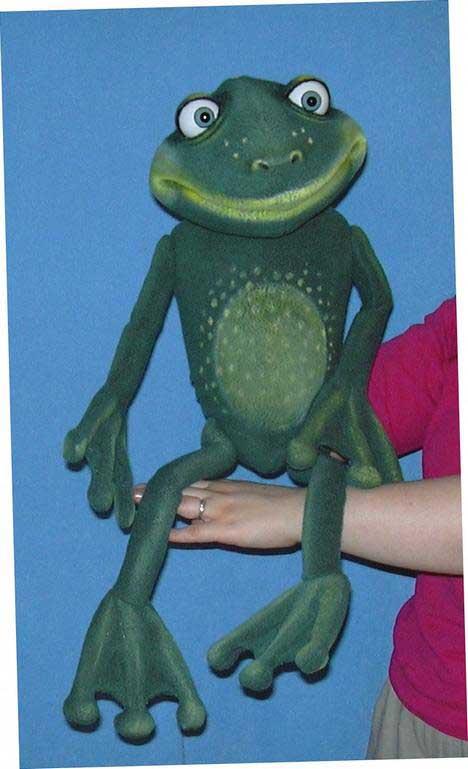 Лягушка Октава кукла чревовещателя