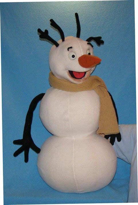 Снеговик кукла чревовещателя