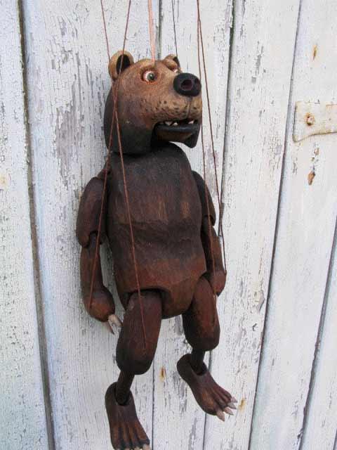 Медведь Михайло марионетка