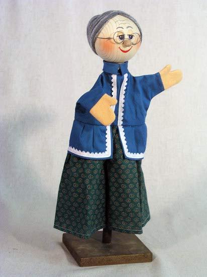 Бабушка перчаточная кукла