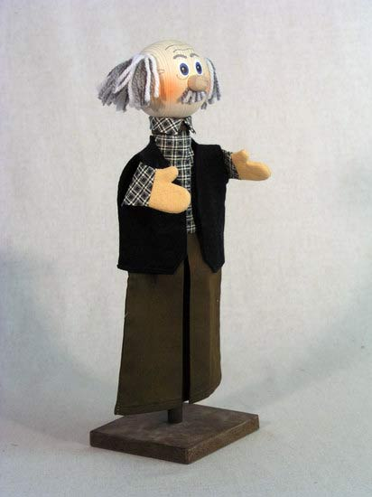 Дед перчаточная кукла