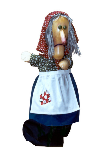 Баба-яга , перчаточная кукла