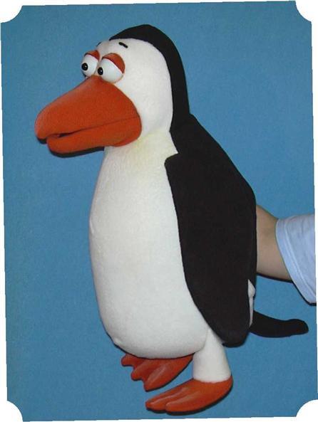 Маска пингвин из поролона
