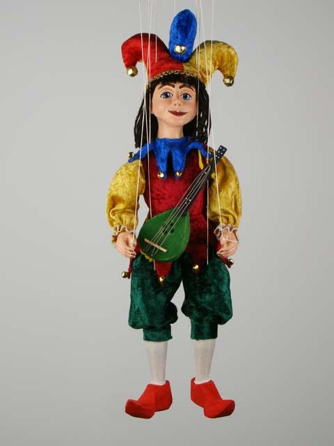 Петрушка музыкант декоративная марионетка