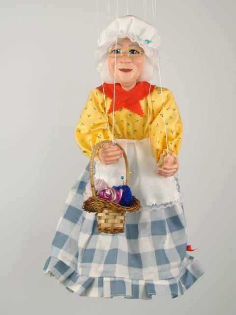 Бабушка Банни декоративная марионетка