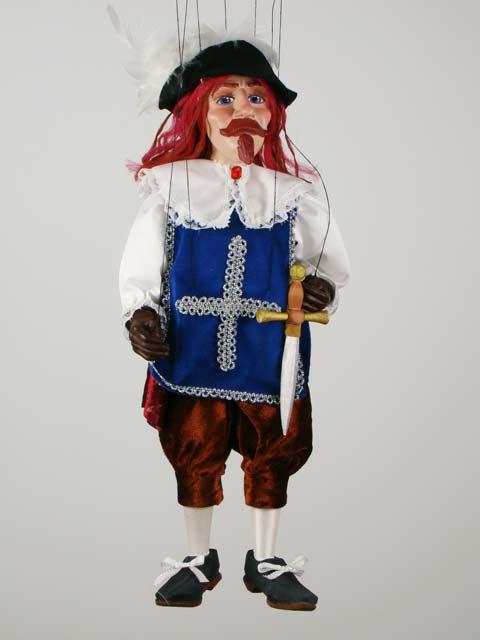 Мушкетер Портос декоративная марионетка