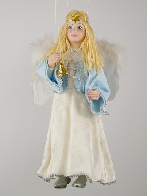 Ангел голубой  декоративная марионетка