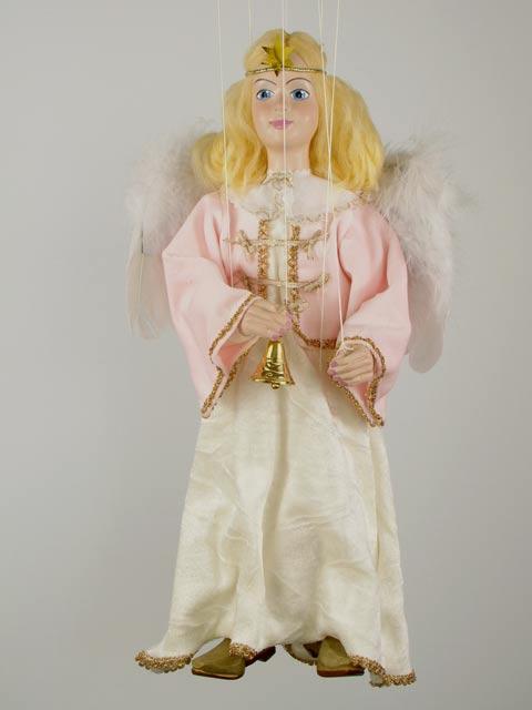 Ангел розовый декоративная марионетка
