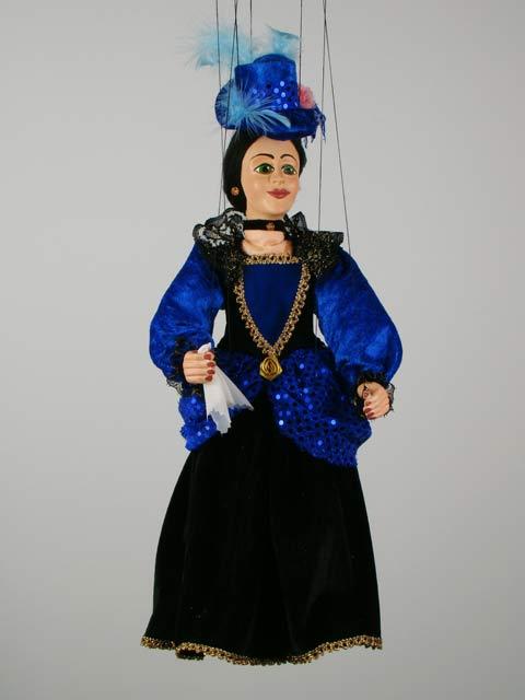 Дама Диана декоративная марионетка