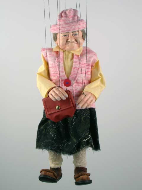 Бабушка ,  оригинальная марионетка